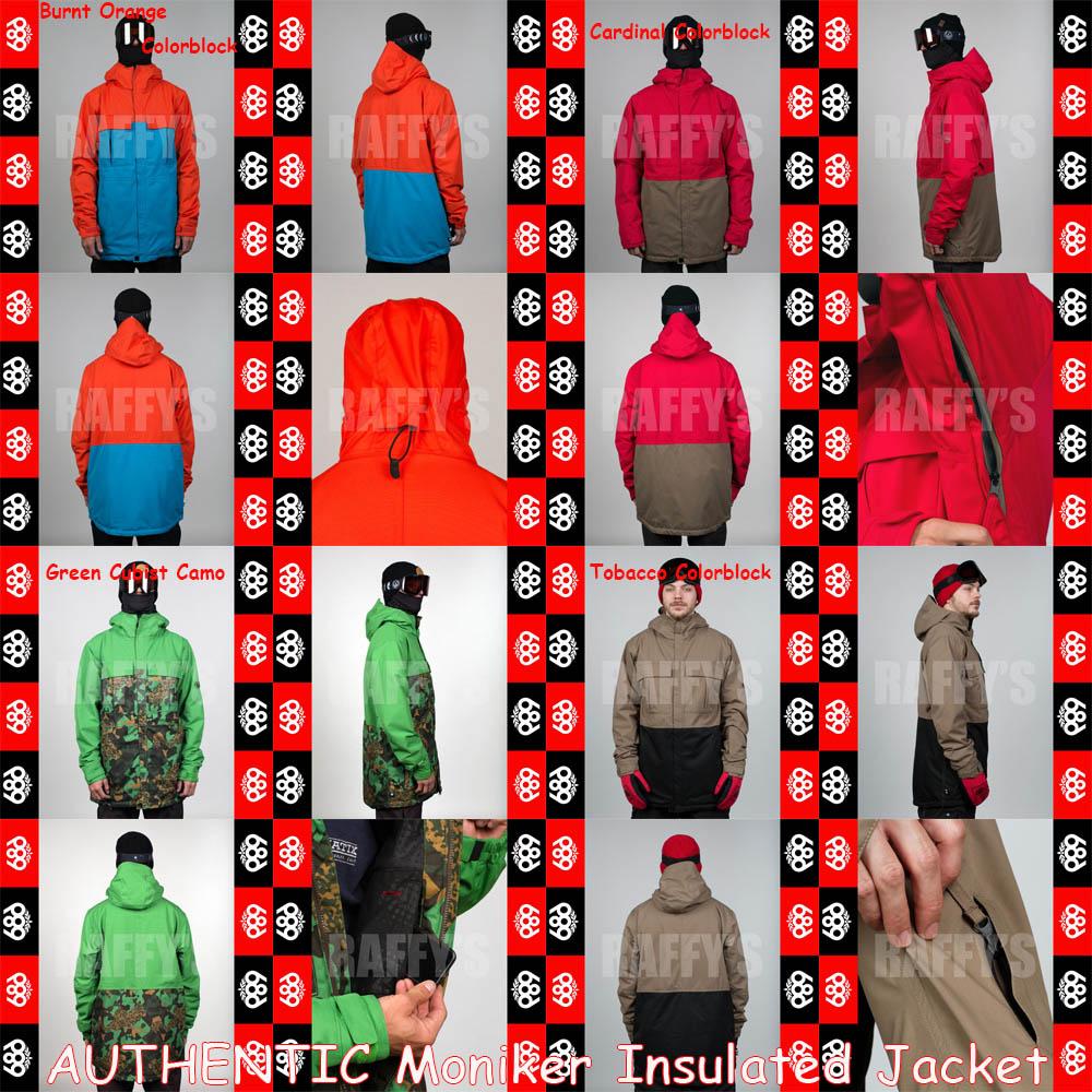 15-16 686 シックスエイトシックス スノーボード メンズ ウェア AUTHENTIC Moniker Insulated Jacket ジャケット/686/15-16/ウエア/2016