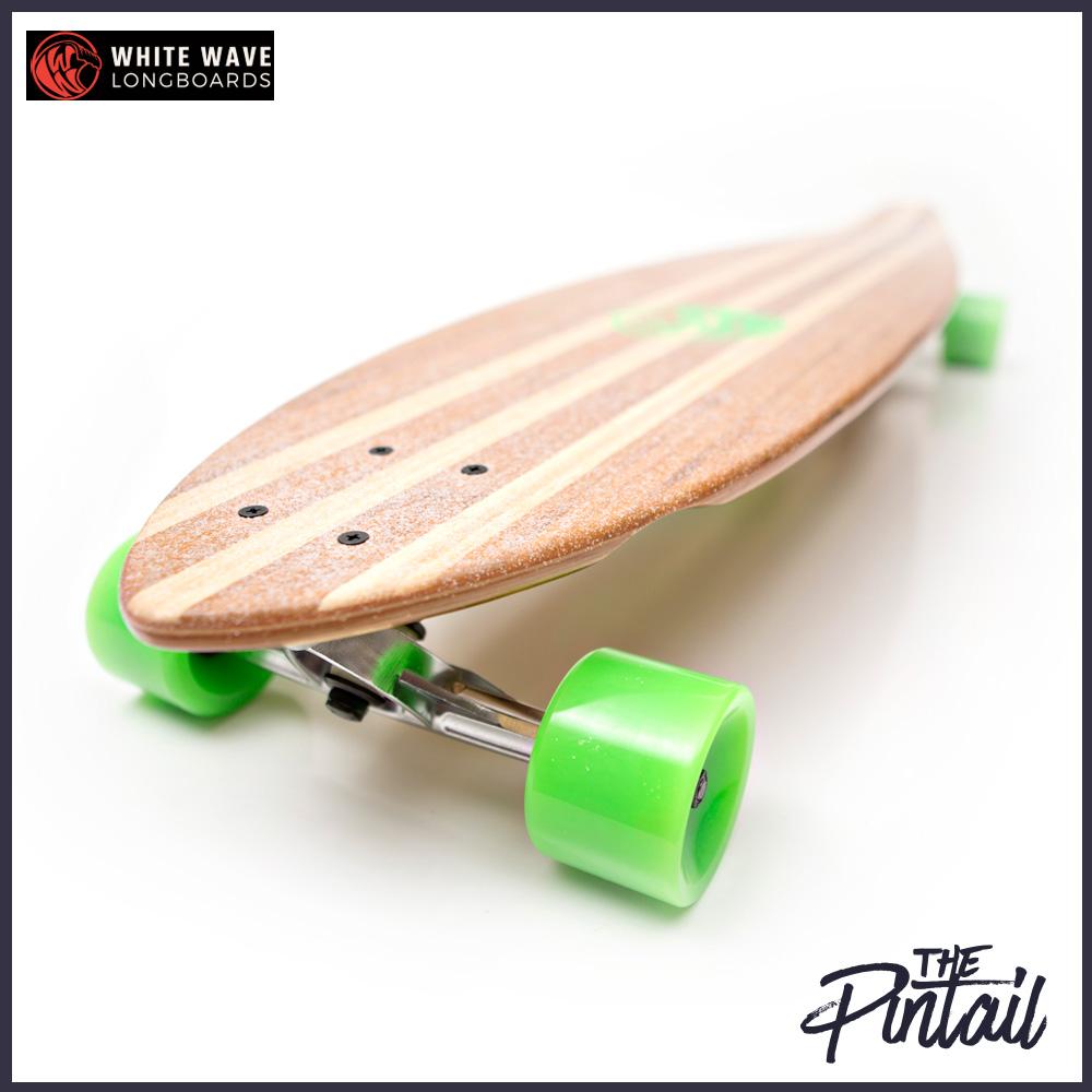 WHITE WAVE ロング スケートボード PINTAIL 40インチ ホワイトウェーブ ロンスケ コンプリート
