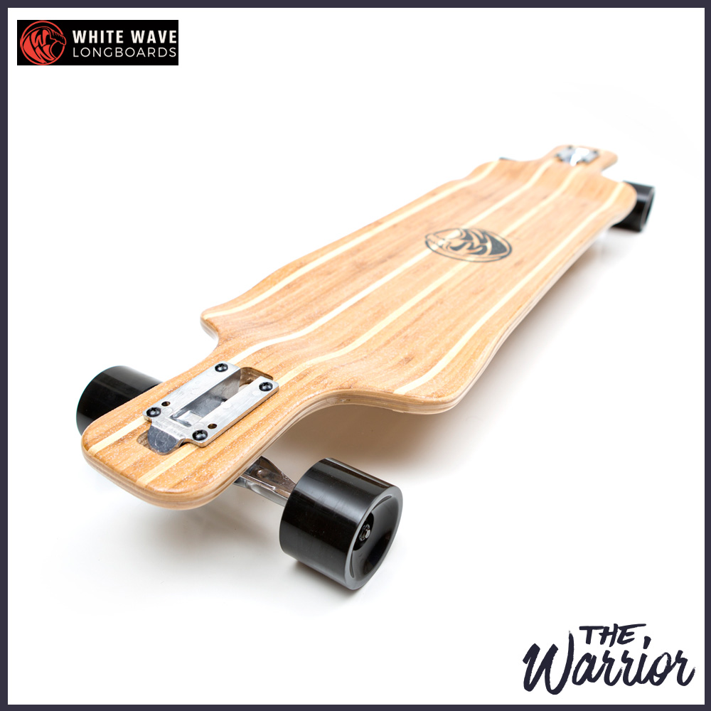 WHITE WAVE ロング スケートボード WARRIOR 38インチ ホワイト ウェーブ ロンスケ コンプリート