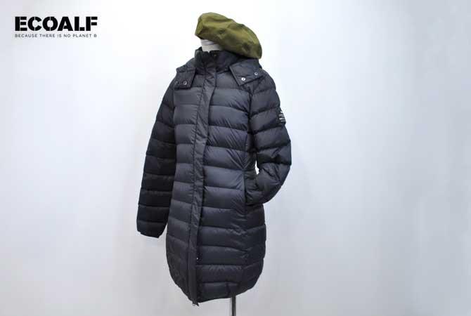 ECOALF/エコアルフ Uma Down Coat (Lady's) 非常に軽量なのでロング丈でも羽織りやすいダウンコート! 送料無料