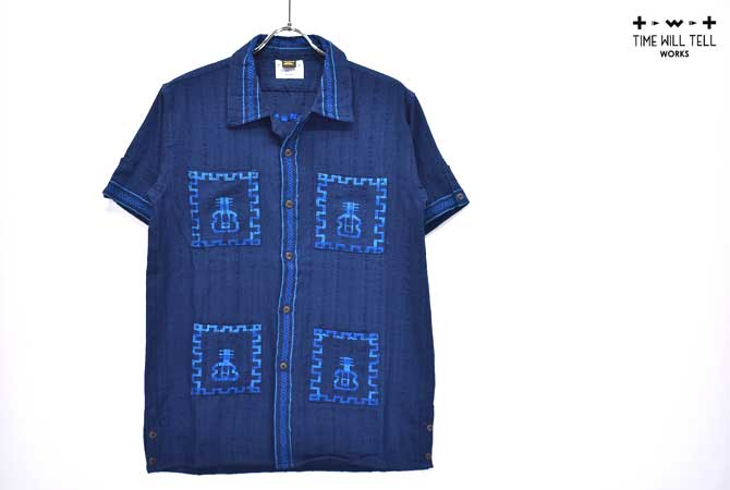 【SALE セール】Time Will Tell Works / タイムウィルテルワークス S/S Quetzal Shirt【返品・交換不可】