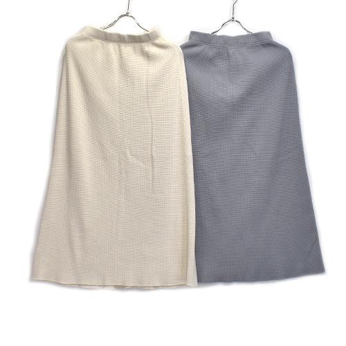 SALE 女性らしく綺麗に見えるワッフルサーマルのスカート WALLA SPORT ワラワラスポーツ正規代理店 SKIR LONG ワラワラスポーツ 新色 THERMAL