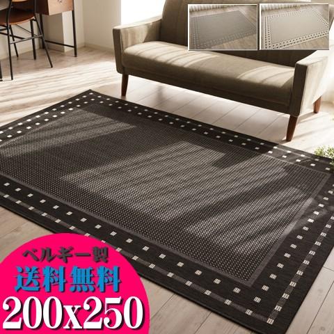 北欧 風 ラグ 3畳 じゅうたん おしゃれ な カーペット 200×250cm 長方形 夏用 通販 送料無料 サマーラグ 夏 絨毯 シンプル ラグマット 薄手 リビング ダイニング