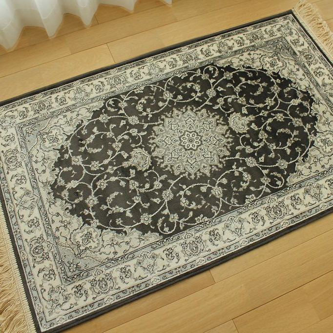 Door mat room in the indoor silk texture 67 × 105 Nordic Persian carpet designs dark grey store Belgium carpet door mat wind water & ragmatst | Rakuten Global Market: Door mat room in the indoor silk ...