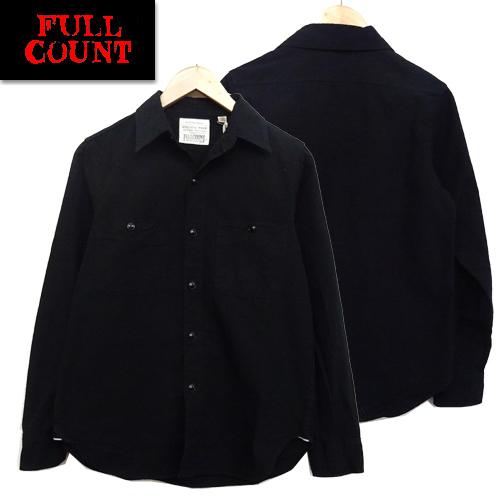 (★クーポン発行)FULLCOUNT フルカウント シャツ 4810-19 ベーシック シャンブレーシャツ 新色 ブラック