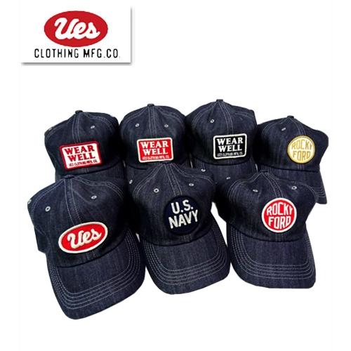 (★クーポン発行)UES/ウエス 82DC-O 2018年限定 デニムベースボールキャップ 帽子 BBキャップ ワッペン リミテッドエディション 完全受注生産 数量限定