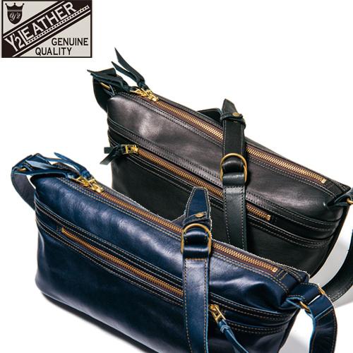 激安人気新品 Y'2 LEATHER ワイツーレザー バッグ BG-02 「HORSE HIDE SHOULDER BAG」エコホース ショルダーバッグ 鞄 カバン レザー 革 馬革 斜め掛け, JYPER'S(ジーパーズ) a6829d97