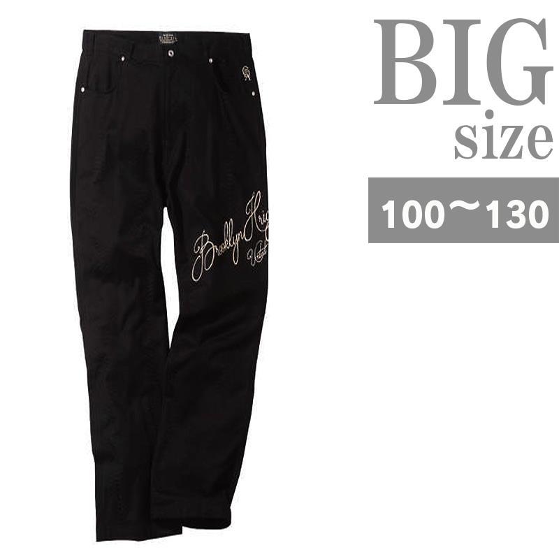 大きいサイズ メンズ ストレッチ パンツ パイソン柄 ジャガード 刺繍 C301005-15