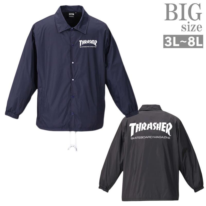 コーチジャケット 大きいサイズ メンズ ウインドブレイカー ナイロンジャケット THRASHER C010827-11