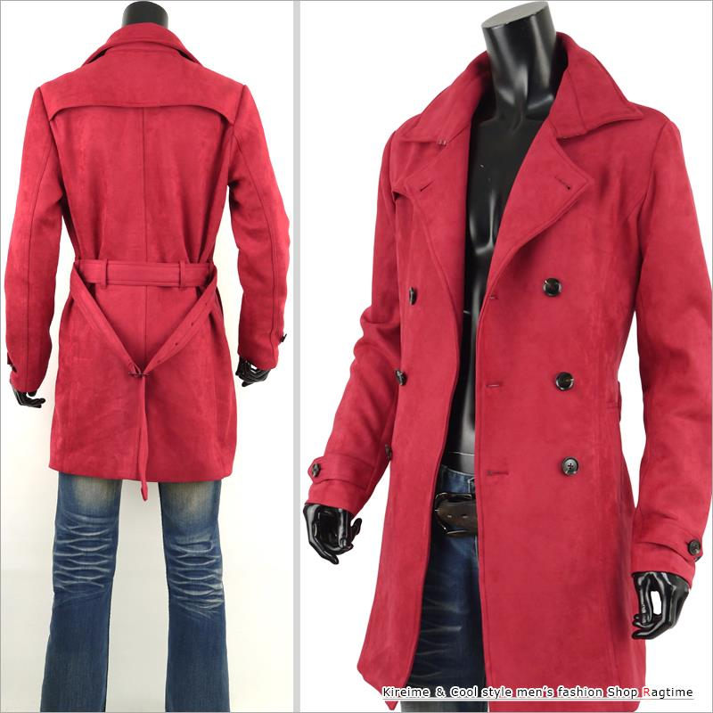 a7db2d8e769a ... Trench coat men suede cloth coat suede long coat long trench B301016-02  in the ...