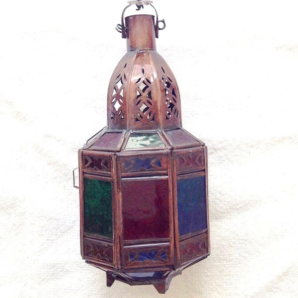 Moroccan lamp candle holder lantern 03 (colorful) lighting light candle  miscellaneous goods interior ethnic fashion in Morocco