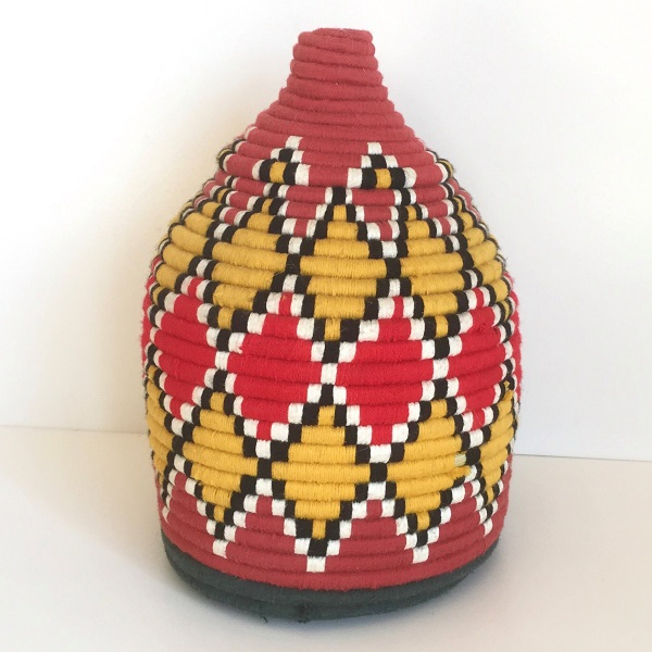 モロッコ ベルベル バスケット42/ 小物入れ フタ付きカゴ かご エスニック インテリア モロッコ雑貨 boho ナチュラル 鉢カバー おしゃれ 植木鉢 カバー