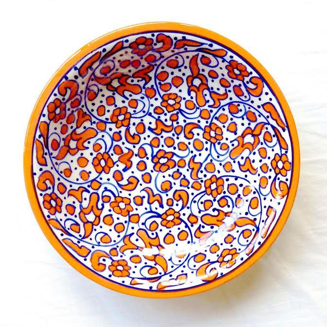 Moroccan earthenware dish 14 plate plate Fes dish Morocco miscellaneous goods tableware red fashion fashion pretty pretty Western dishes square gift  sc 1 st  Rakuten & raha-kobe | Rakuten Global Market: Moroccan earthenware dish 14 ...