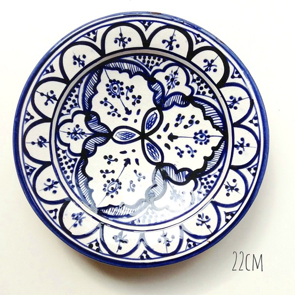 Stylish modern Fes boho dish fes which a Moroccan dish blue 22cm plate earthenware Morocco miscellaneous goods tableware device caliber has a cute  sc 1 st  Rakuten & raha-kobe | Rakuten Global Market: Stylish modern Fes boho dish fes ...