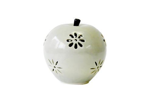 薩摩焼 仁王山窯 リンゴ型ランプ(グリーン)