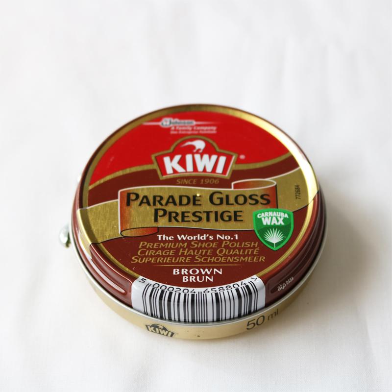 シューケア 靴磨き 靴クリーム【KIWI キウイ PARADE GLOSS パレードグロス】 全4色 40g