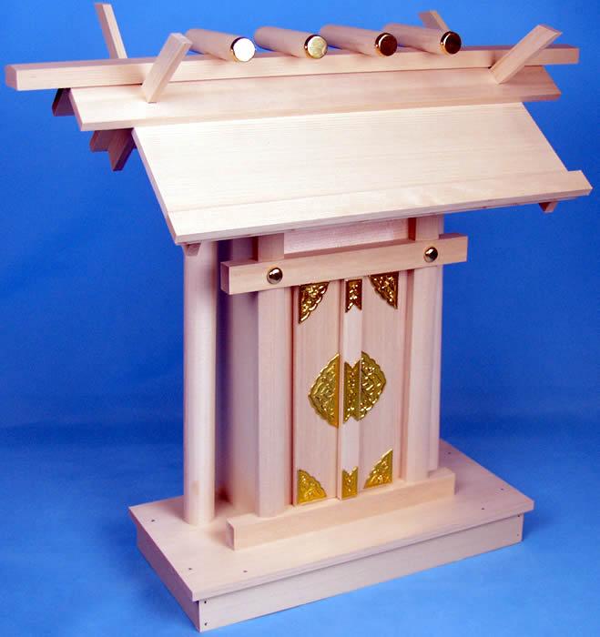 【送料無料】神棚-板葺一社 中サイズ 桧、他使用。伊勢神宮の街、伊勢市から発送【smtb-k】