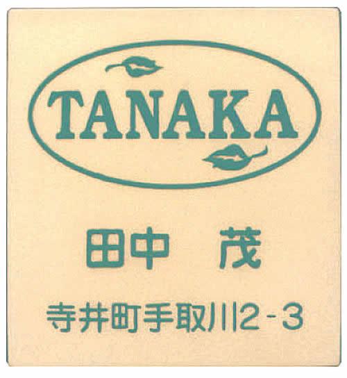 【送料無料】立体陶板表札(戸建・マンション両用タイプの表札)TK-35つやなし