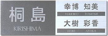【送料無料】ステンレス表札(戸建・マンション両用タイプの表札)SU-12【smtb-k】
