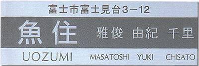 【送料無料】ステンレス表札(戸建・マンション両用タイプの表札)SU-14【smtb-k】