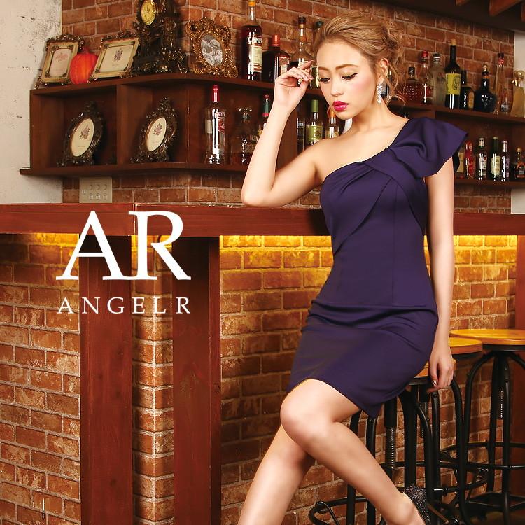 Angel R エンジェルアール ドレス キャバ ドレス キャバドレス エンジェル アール ドレス リボンモチーフワンショルダータイトミニドレス タイト ワンショルダー リボン 無地 ワンピース 細い パーティー 高級キャバドレス AR9201