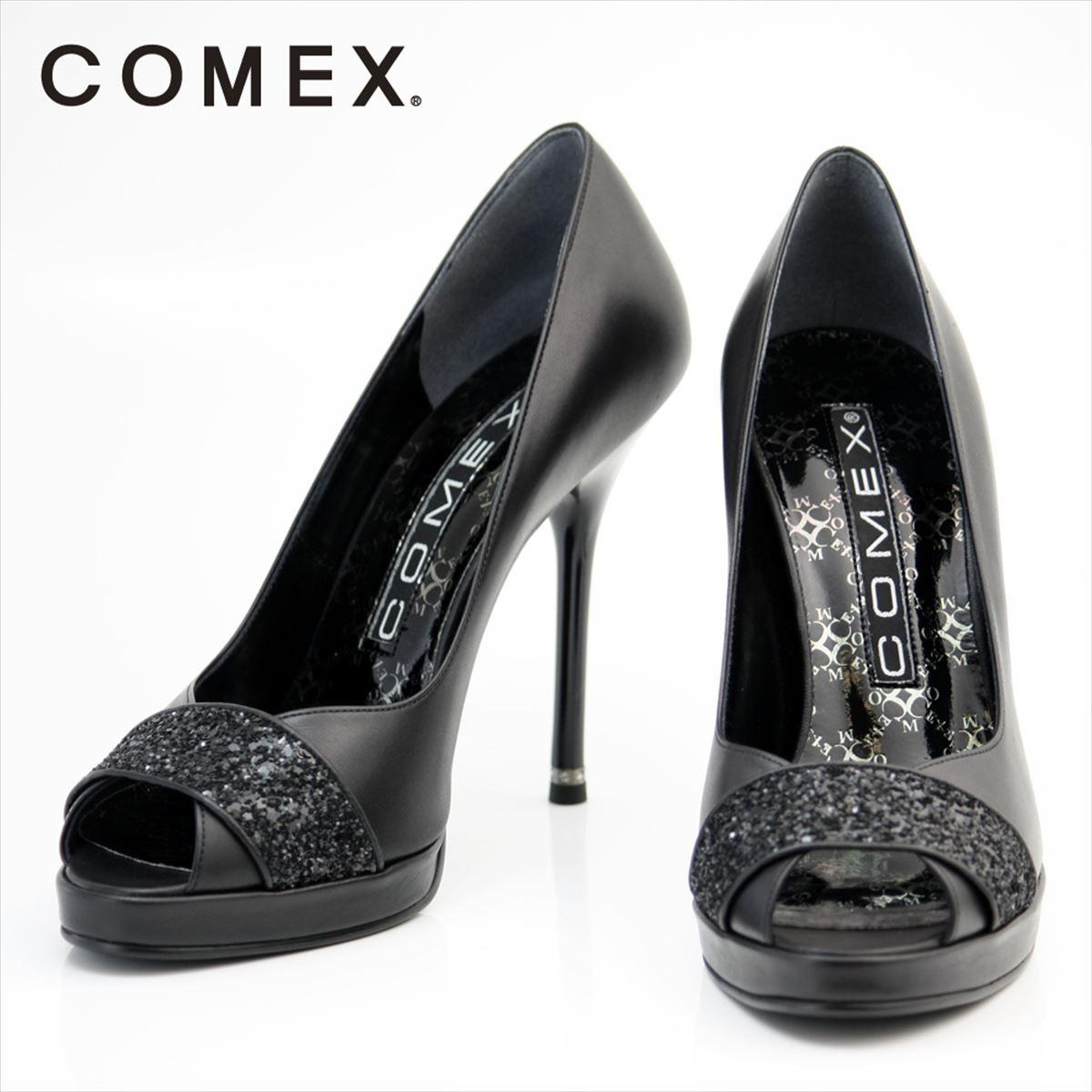 COMEX コメックス オープントゥパンプス ピンヒール 定番 美脚 結婚式 パーティー 靴 シューズ