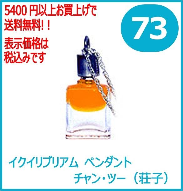 オーラソーマ イクイリブリアム・ペンダント 73番 チャン・ツー(荘子)  (ゴールド/クリアー) レインボーカラーズ