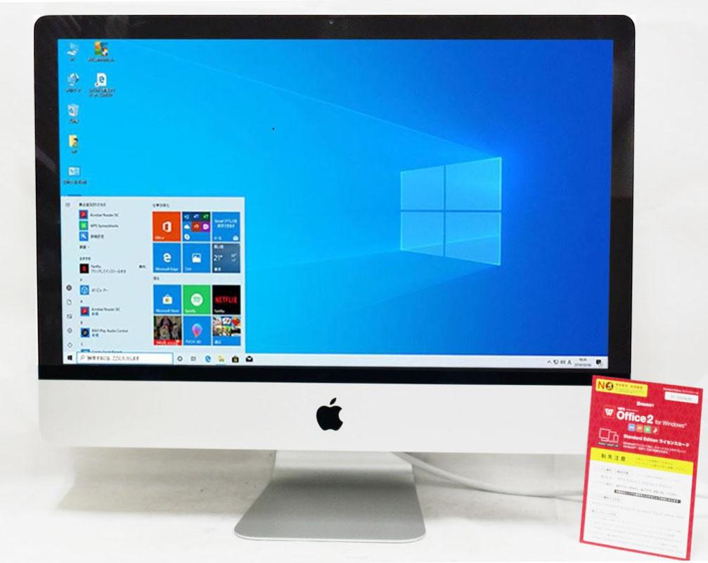 即日発送 良品 高価値 フルHD 本日の目玉 21インチ 薄型 APPLE iMac A1418 Late2013 Win10 + OSX 10.15 四代Core カメラ あす楽 8G i5 NVIDIA Office付き 1000G i5-4570S Offic 送料無料 GT750M リカバリ領域有り