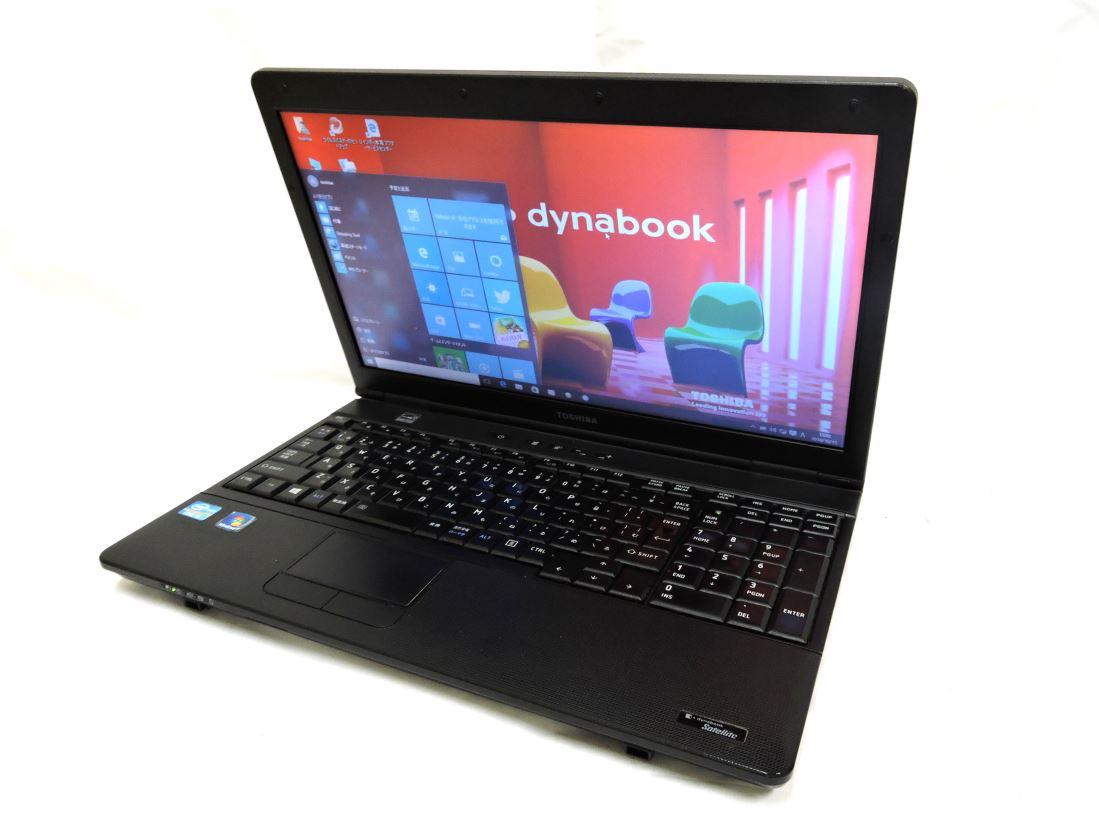 あす楽対応 即日発送可 訳あり 15.6w型東芝 dynabook B552/F Win10 64 pro/第三世代Core i5/4G/320G/無線/リカバリ領域有/Kingsoft office 2016【中古ノートパソコン 中古パソコン 中古PC office付】
