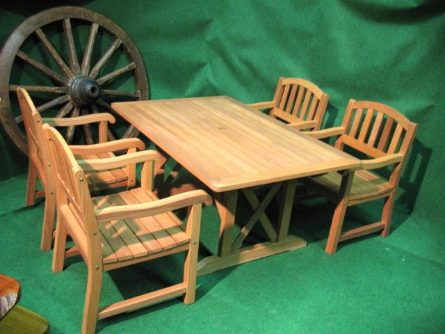 4人用角テーブルセット