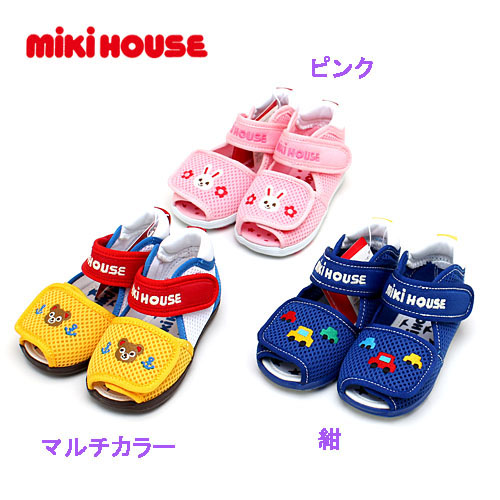 Clearance Miki house mikihouse double raschel ☆ baby sandals 13-15cm shoes  sandals 7e4047726a56