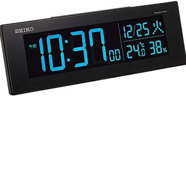 セイコークロック 置き時計 01:黒 オンラインショップ 本体サイズ:7.3×22.2×4.4cm 電波 シリーズC3 BC406K デジタル 優先配送 交流式 カラー液晶