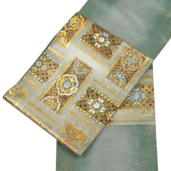 西陣織袋帯 金彩螺旋・加藤信和