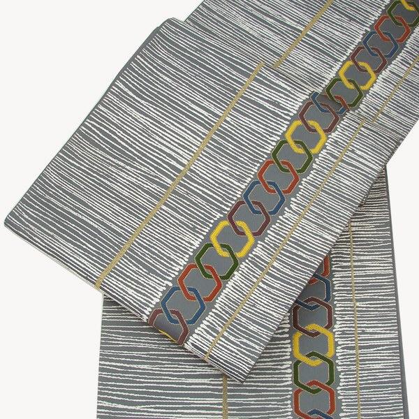 正絹 西陣袋帯 手織り・繋ぎ亀甲