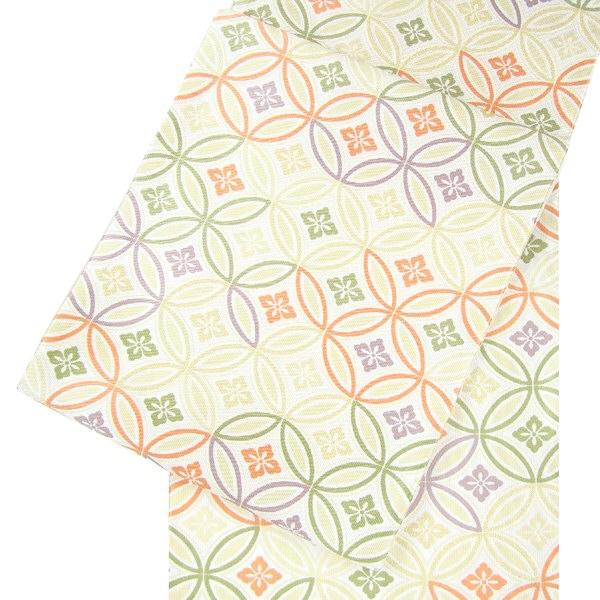 正絹西陣袋帯 七宝唐花詰文