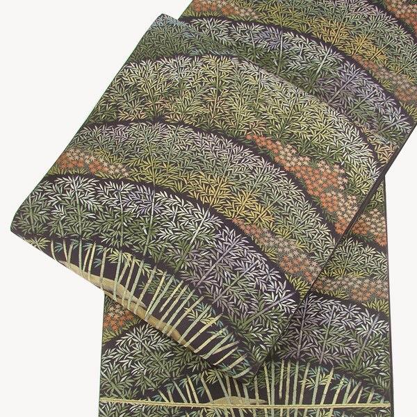 正絹西陣袋帯 黄櫨染