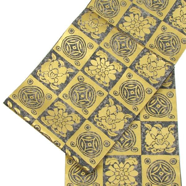 西陣織袋帯 市松七宝文