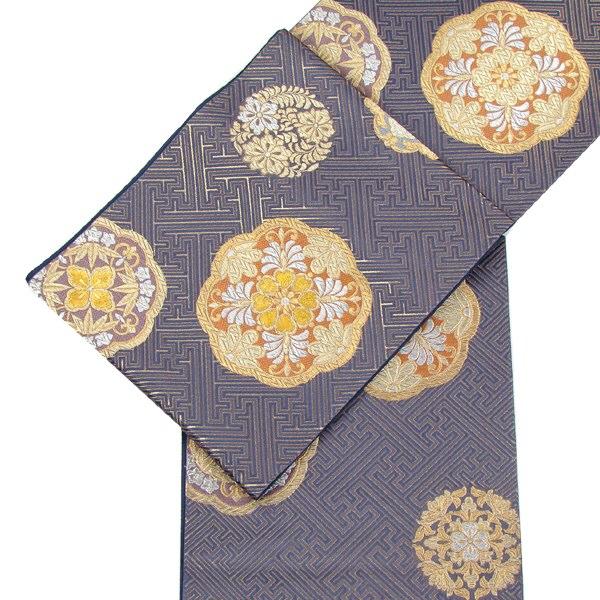 西陣織袋帯 八稜花丸文