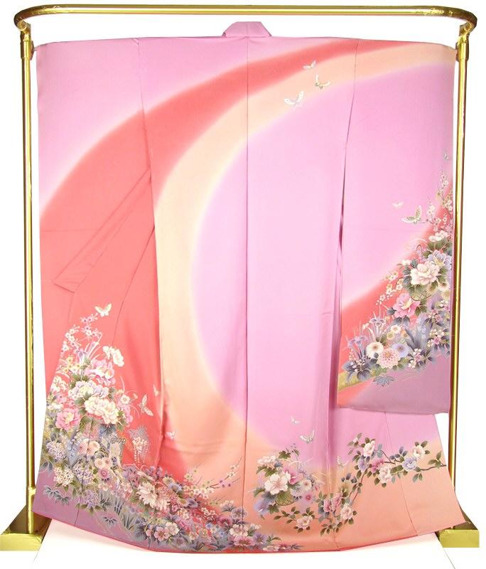 正絹友禅振袖 花みやび 結婚式 卒業式 フォーマル 和装 着物