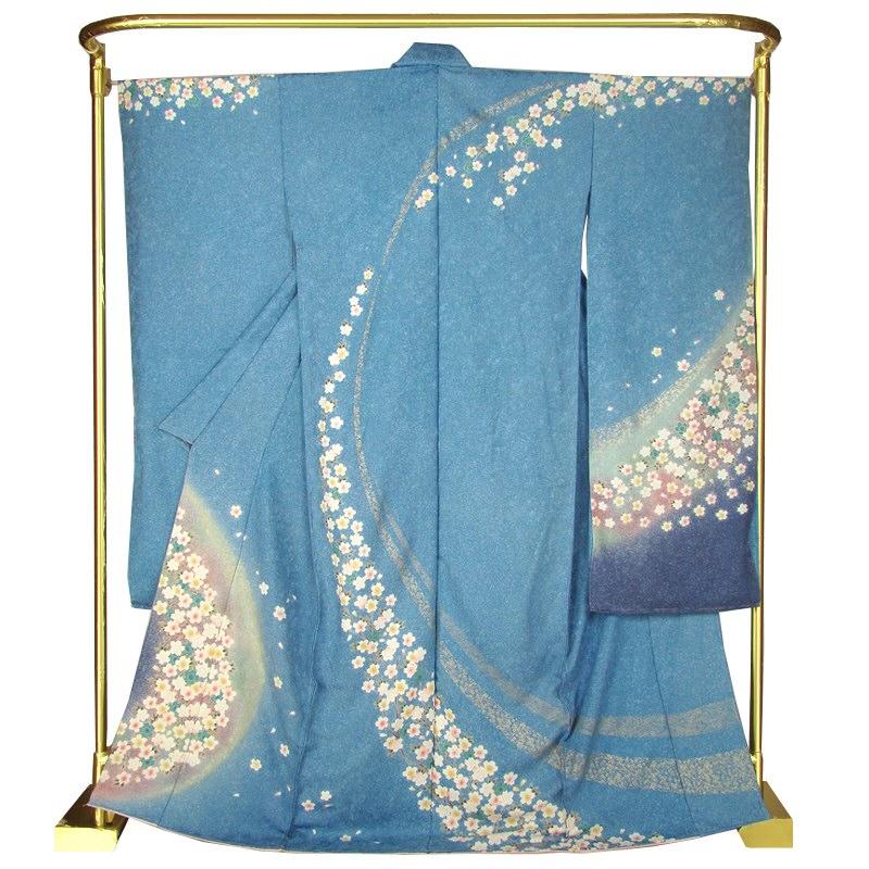 正絹友禅振袖 枝垂れ桜 結婚式 卒業式 フォーマル 和装 着物