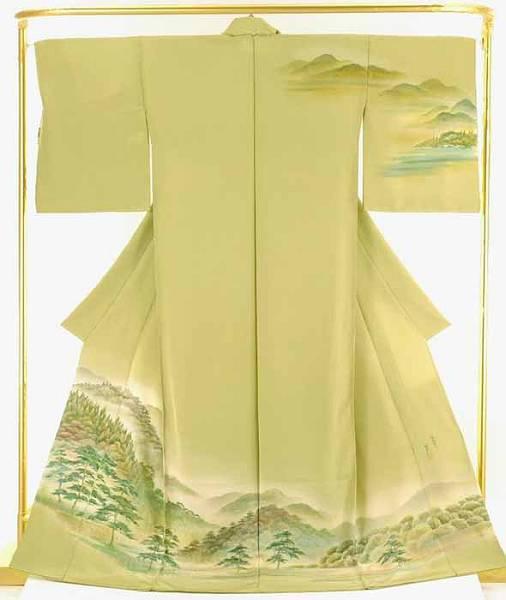 正絹蝋彩染訪問着 村松 豊 作 結婚式 卒業式 フォーマル 和装 着物