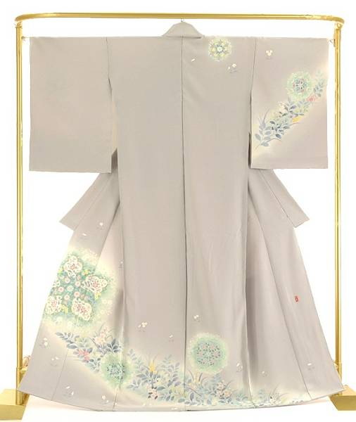 正絹訪問着 更紗寄花文 結婚式 卒業式 フォーマル 和装 着物