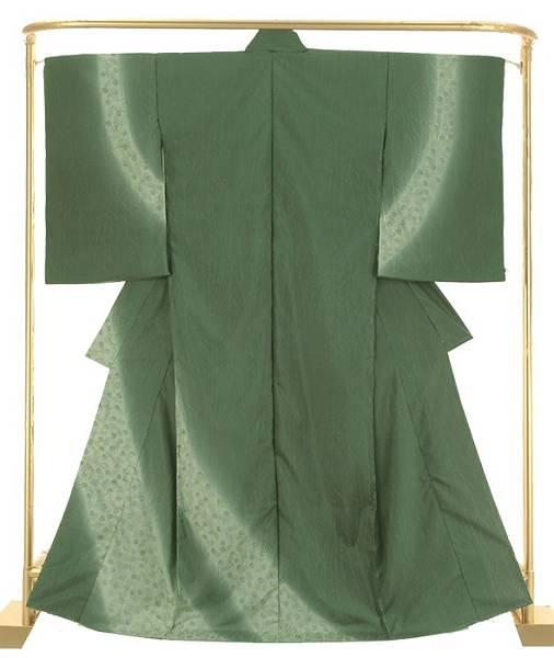 正絹 紬訪問着 お洒落染大島 結婚式 卒業式 フォーマル 和装 着物