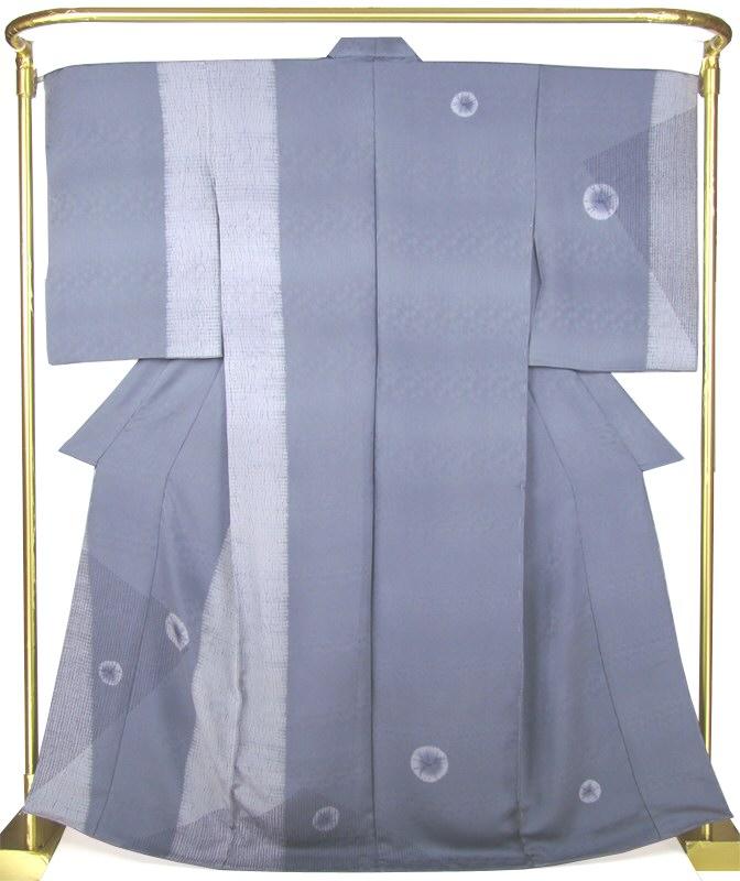 正絹訪問着 縫締め絞り 結婚式 卒業式 フォーマル 和装 着物