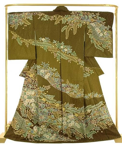 正絹訪問着 絞り辻が花 結婚式 卒業式 フォーマル 和装 着物