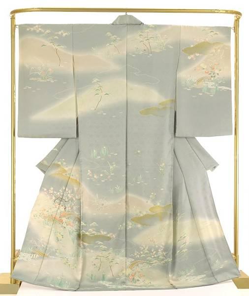 正絹訪問着 御所解き模様 結婚式 卒業式 フォーマル 和装 着物