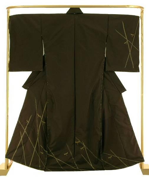 縞大島訪問着 刺し子刺繍 結婚式 卒業式 フォーマル 和装 着物