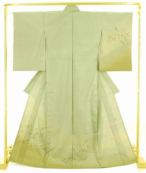 正絹染め紬訪問着 結婚式 卒業式 フォーマル 和装 着物