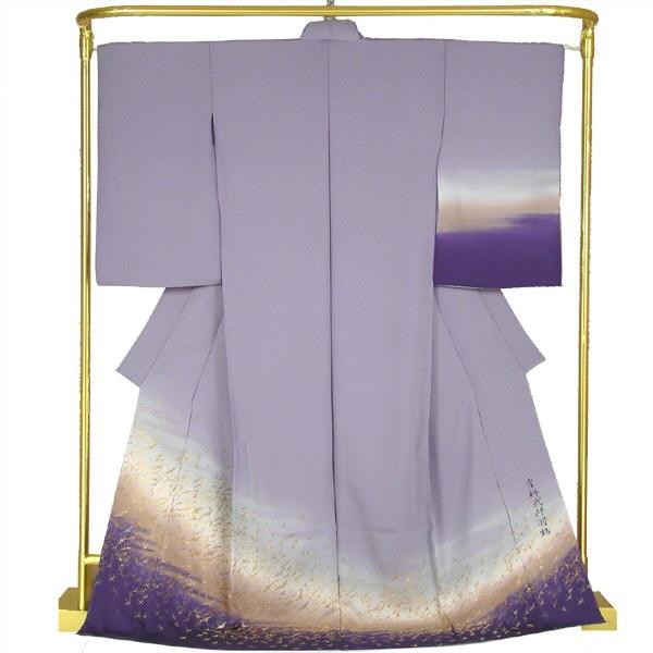 正絹縫取ぼかし訪問着 吉祥弐千羽鶴 結婚式 卒業式 フォーマル 和装 着物