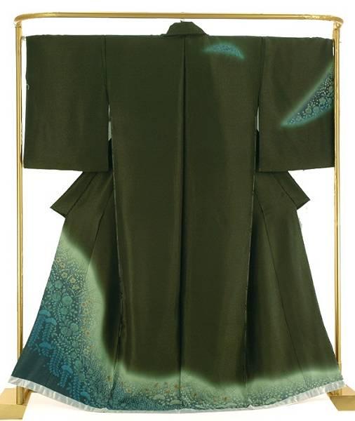 正絹 絞り訪問着 辻が花 結婚式 卒業式 フォーマル 和装 着物